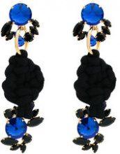 Marni - Orecchini 'Rope Knot' - women - Cotone/Brass - One Size - Nero