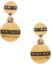 Camila Klein - strass embellished drop earrings - women - Metal (Other) - OS - METALLIC