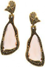 Camila Klein - embellished earrings - women - Crystal/Metal (Other) - OS - METALLIC