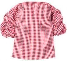 Petersyn - Tara gingham print top - women - Cotton - M, L - RED