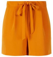 Y.A.S Relaxed Tie Belt Shorts Women Orange