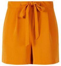 Y.A.S Relaxed Tie Belt Shorts Women Orange