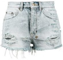 Ksubi - Shorts a vita alta 'Tongue 'n' Cheek' - women - Cotton - 25, 26, 27, 28, 29, 30, 31 - BLUE