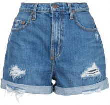 Nobody Denim - Stevie Short Angels - women - Cotton - 29 - BLUE