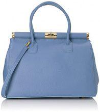 Chicca Borse 8005, Borsa a mano Donna, Azzurro, 35 cm