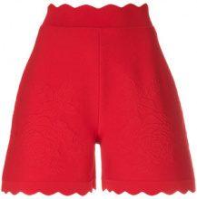Alexander McQueen - Shorts con orlo a smerlo - women - Viscose/Polyester/Polyamide/Spandex/Elastane - M - RED