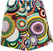 Manish Arora - Shorts con motivo circolare e pailettes - women - Nylon/Polyester - 36 - MULTICOLOUR