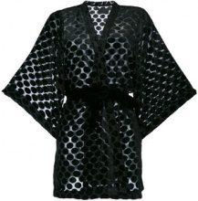 Iil7 - Kimono con cintura - women - Nylon - OS - BLACK