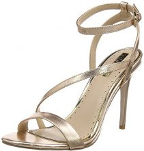 Miss KGScarlette - Peep Toe Donna, Oro (Gold (Metal Comb)), 37