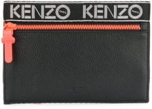 Kenzo - Borsa Clutch 'Sport' - women - Polyester/Calf Leather - OS - BLACK