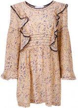 Iro - Vestito con dettaglio increspato - women - Silk - 42 - Color carne & neutri