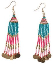 PIECES Colourful Pearl Earrings Women Gold