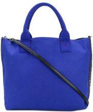 Pinko - Borsa con logo laterale - women - Cotton/Polyester/Polyurethane - One Size - BLUE
