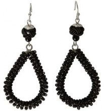 PIECES Round Pearl Earrings Women Black