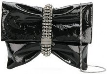 Jimmy Choo - Borsa clutch 'Chandra' - women - Patent Leather/Crystal - OS - BLACK