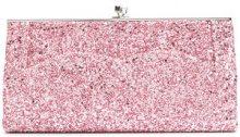 Victoria Beckham - Clutch glitter - women - Cotton/Leather/Aramid/Polystyrene - OS - PINK & PURPLE