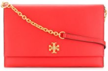 Tory Burch - Kira clutch - women - Leather - One Size - RED