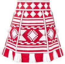 Vita Kin - Minigonna 'Croatia' lavorata a intrecci - women - Linen/Flax - S, M - Rosso