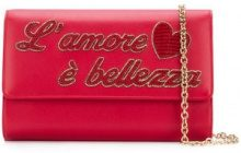 Dolce & Gabbana - Borsa Clutch 'L'Amour' - women - Calf Leather - One Size - Rosso