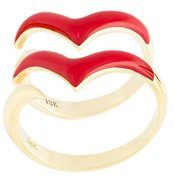 Gisele For Eshvi - Anello 'Fly with Me' - women - 18kt Yellow Gold - 45, 56 - RED