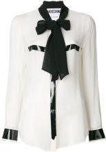 Moschino - Blusa con fiocco sul collo - women - Silk - 46, 42 - WHITE