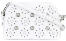 Versus - flower studded crossbody bag - women - Calf Leather/Metal (Other) - OS - WHITE
