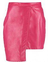 Jess PU Stepped Hem Mini Skirt