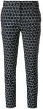 Kiltie - Pantaloni stampati - women - Cotone/Polyester/Spandex/Elastane - 48, 50 - Blu