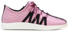 Giuseppe Zanotti Design - textured sneakers - women - Leather/rubber/Neoprene - 36, 38, 40, 41 - Rosa & viola