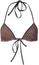 Dvf Diane Von Furstenberg - Top bikini a pois - women - Polyamide - S, M - Marrone
