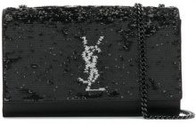 Saint Laurent - Borsa di paillette - women - Viscose/Sequin - One Size - BLACK