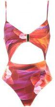 Lygia & Nanny - cut out details swimsuit - women - Polyamide/Spandex/Elastane - 42 - Giallo & arancio