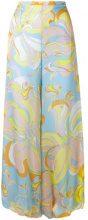 Emilio Pucci - printed flared trousers - women - Silk - 42, 38, 40, 44, 46 - PINK & PURPLE