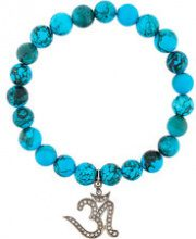 Gemco - Braccialetto con perline e ciondolo - women - Silver/Diamond - OS - BLUE