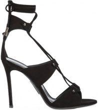 Thomas Wylde - lace up sandals - women - Suede - 36, 36.5, 37, 37.5, 38, 38.5, 39 - BLACK