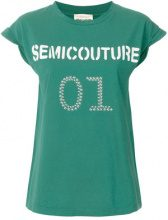 Semicouture - T-shirt con logo - women - Cotton - M, L - GREEN