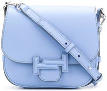 Tod's - Borsa a bisaccia 'Doppia T' - women - Leather - One Size - BLUE