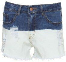 Shorts jeans bicolori