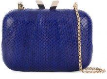 Kotur - Clutch con catena - women - Snake Skin - OS - BLUE