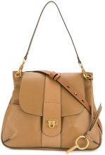 Chloé - Borsa a tracolla Lexa - women - Lamb Skin/Calf Leather/Cotton - OS - BROWN