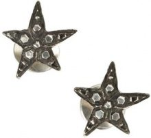 Werkstatt:München - embellished stars earrings - women - Sterling Silver - OS - METALLIC