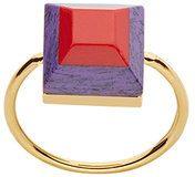 Fendi - Rainbow two-tone ring - women - Brass/Pietra - 50, 53, 56 - METALLIC