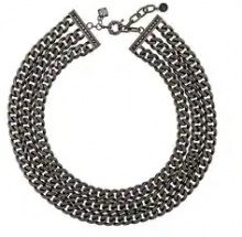 Karl Lagerfeld - Collana con tripla catena - women - Brass - One Size - Nero