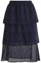 VILA Ruffle Detail- Midi Skirt Women Blue