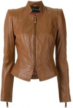 Tufi Duek - panelled leather jacket - women - Leather - 40, 42 - BROWN