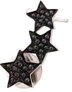 Alinka - Ear Cuff 'Stasia' con tre stelle - women - Diamond/18kt White Gold - OS - METALLIC