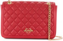 Love Moschino - quilted shoulder bag - women - Leather - OS - RED