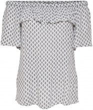 ONLY Printed 2/4 Sleeved Blouse Women White