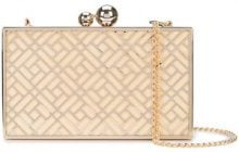 Inge Christopher - metallic box clutch - women - Acetate - OS - METALLIC