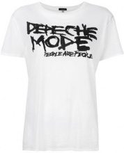 R13 - T-shirt 'Depeche Mode' - women - Cotton/Cashmere - S, M, L, XS - WHITE